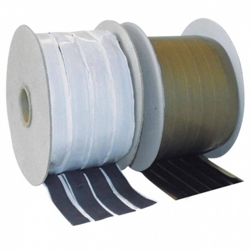 Лента-герметик с каучуковым уплотнителем APP-Butyltape черная (валик), 8мм*15м
