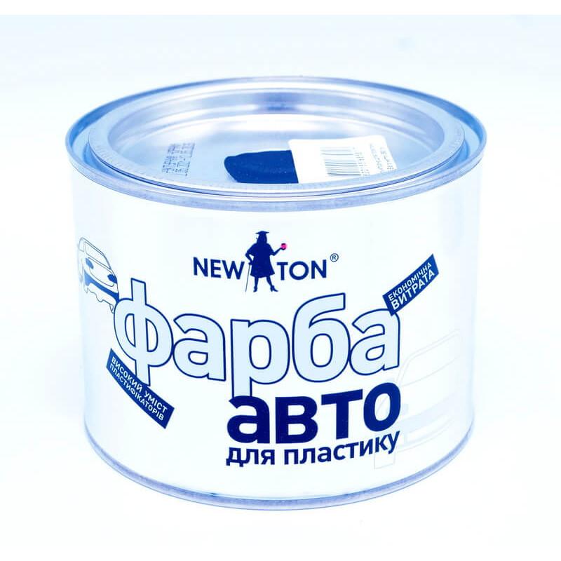Краска структурная для бампера, черная NEW TON, 450 мл