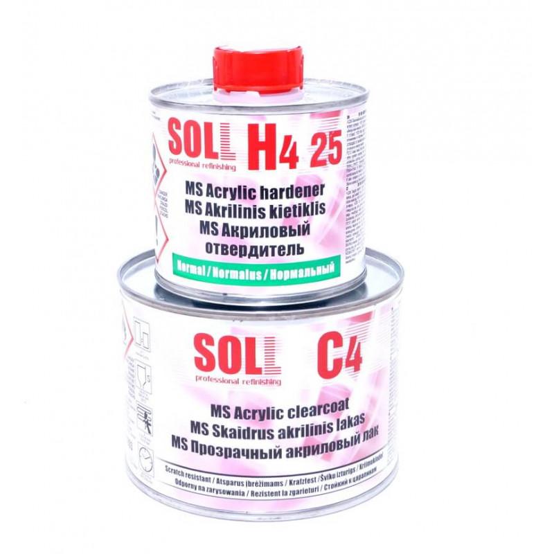 Акриловый лак MS SOLL 2:1 С4 0,4 л с отвердителем Н4 25 Normal 0,2л