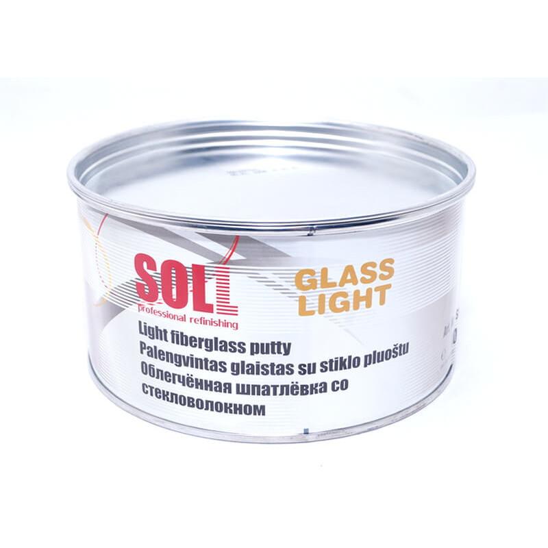 Шпатлевка легкая со стекловолокном SOLL Glass Light, 1л (арт. SG3 010L)