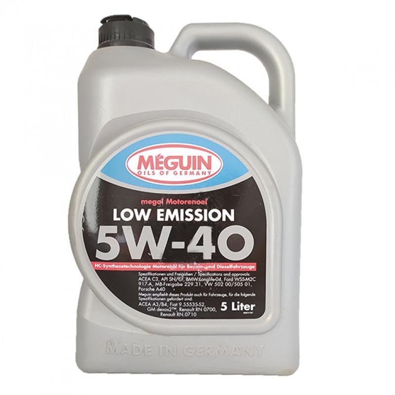 Масло моторное Meguin Megol Motorenoel Low Emission 5W-40, 5 л
