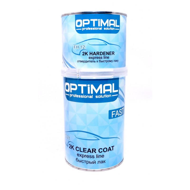 Лак акриловый быстрый Optimal 2K Clear Coat FAST (OPS-FC21-1500) 1л + отв. 0,5л