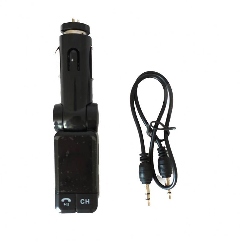 Автомобильный модулятор FM C-06 с Bluetooth и USB зарядкой