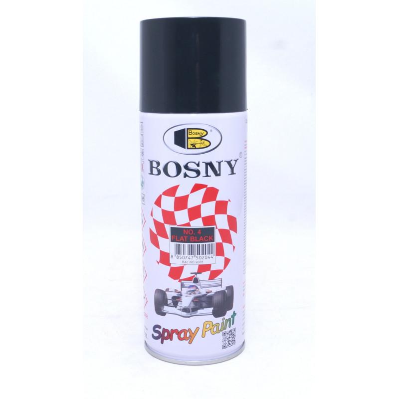 Акриловая эмаль в аэрозоле, черная матовая BOSNY 400мл