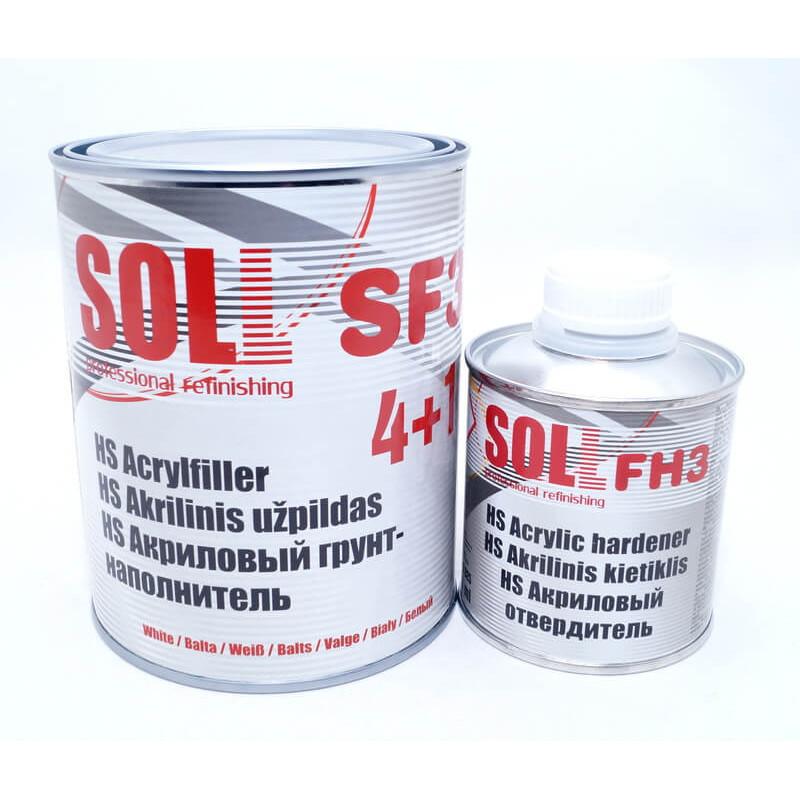 Грунт акриловый SOLL SF3 белый + отв. 4 + 1 HS 1,25л (арт. SF3 W1)