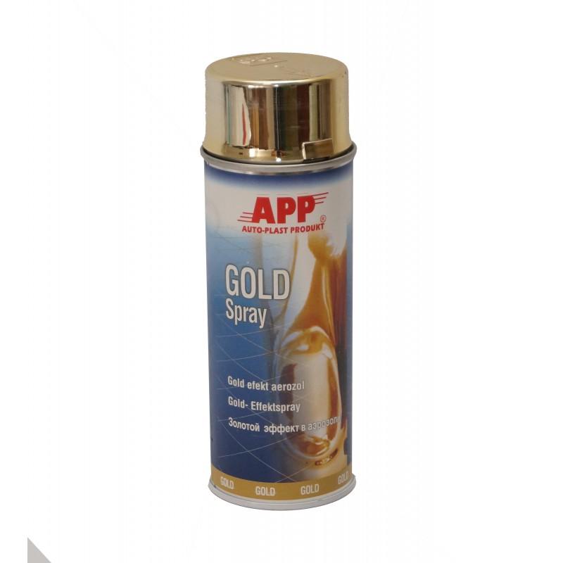 Автоэмаль аэрозольная Super Chrom APP золото 400мл