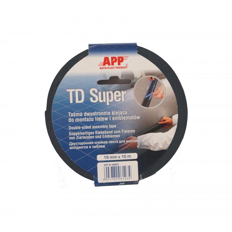 Двухсторонняя клейкая лента (скотч) APP синяя TD Super