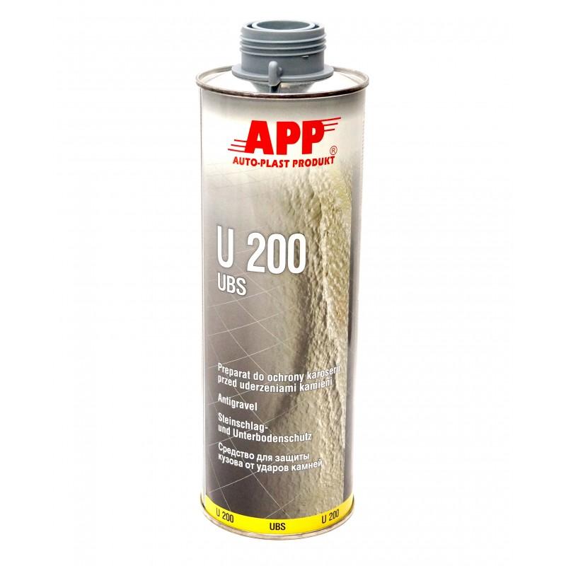 Средство для защиты кузова APP U200  Baranek серое 1л
