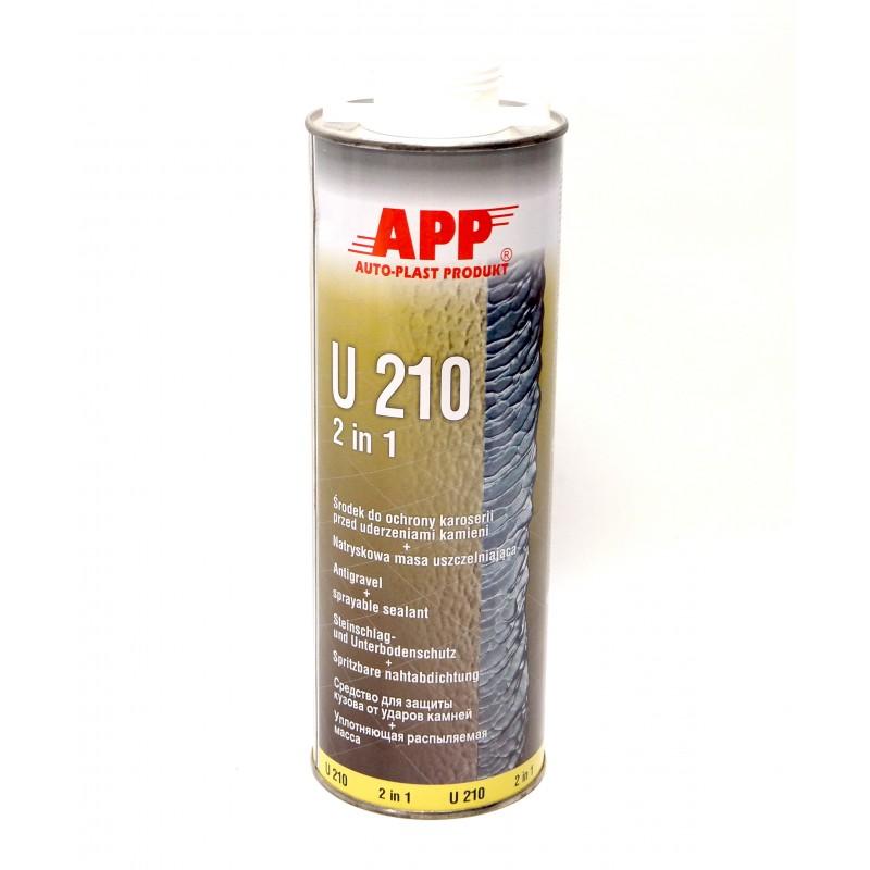 Средство для защиты кузова и жидкий уплотняющий герметик U210 белый 1.0л