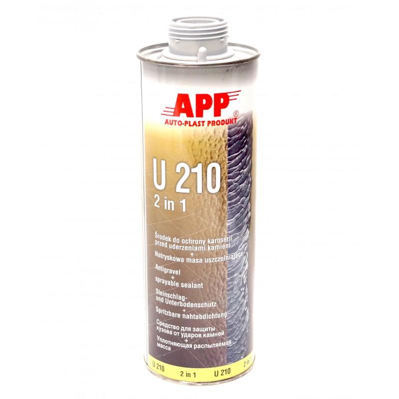Средство для защиты кузова и жидкий уплотняющий герметик U210 серый 1.0л