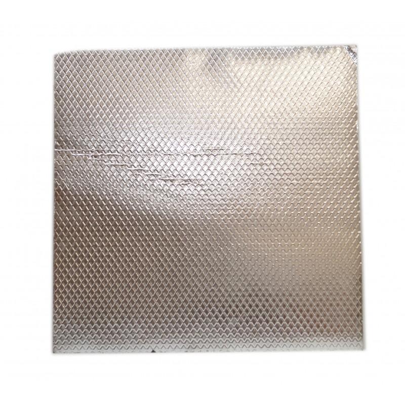 Лист битумный звукоизолирующий APP 500*500 мм - алюминиевой прослойкой