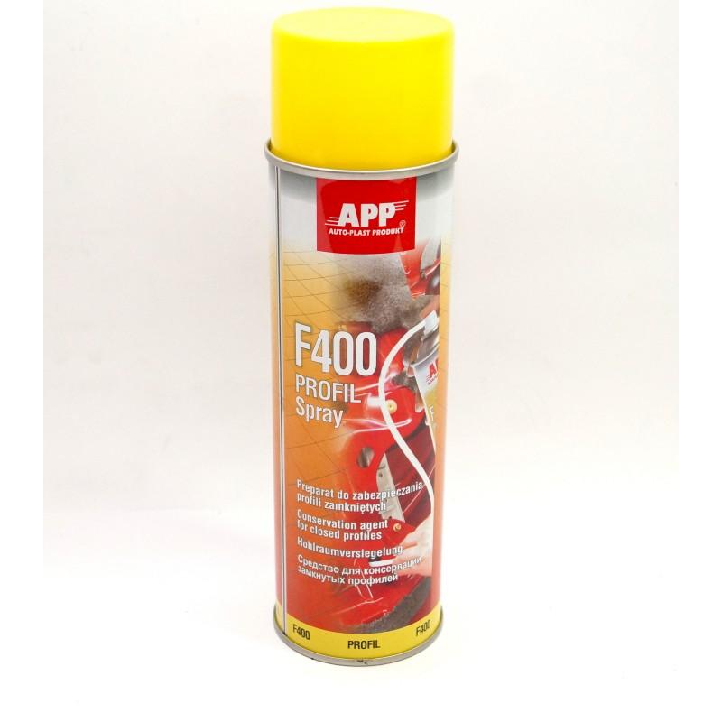 Средство для предохранения закрытых профилей APP Profil F 400 Aerozoll янтарные 0.5л