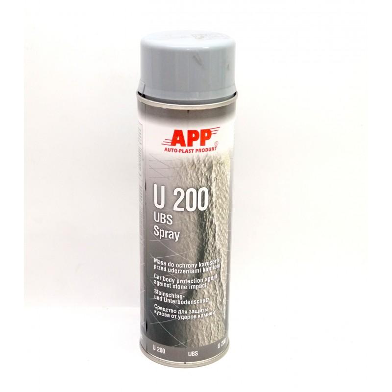 Средство для защиты кузова APP U200  Baranek серый аэрозоль 0.5л