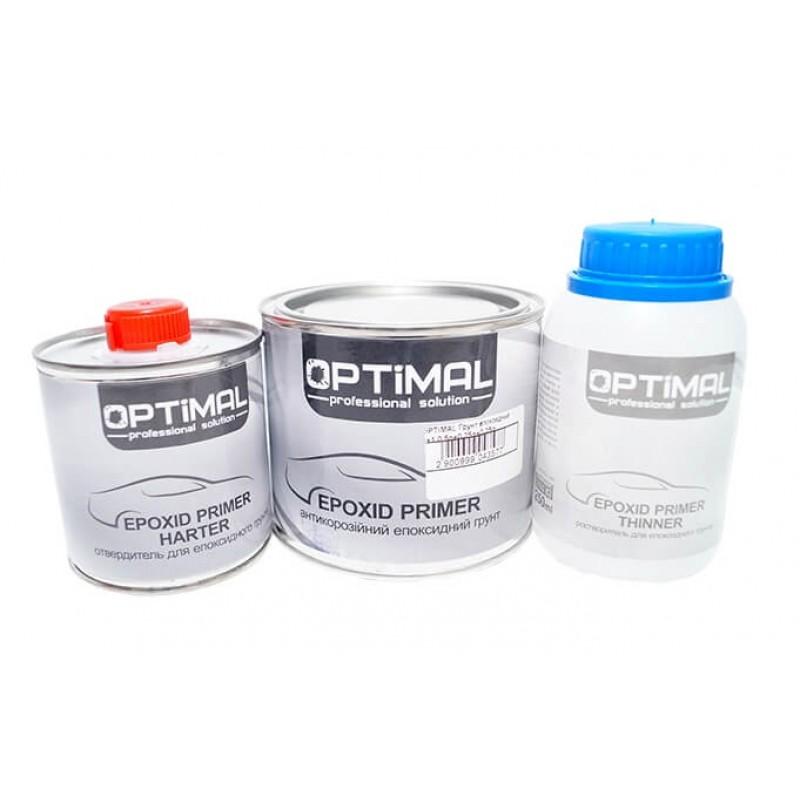 Эпоксидный грунт OPTIMAL OPS-EP-2+1, 500мл+0,25+0,25л