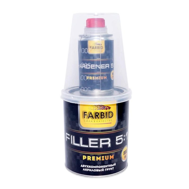 Черный Акриловый Грунт-наполнитель Farbid Premium 5+1
