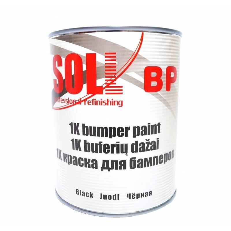 Краска 1K для бамперов SOLL, черная 1 л